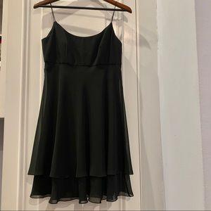 A.J. Bari Black Spaghetti Strap Cocktail Dress